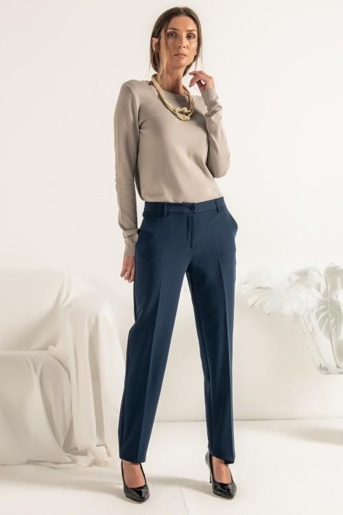 Pantalon tailleur bleu - Fabriqué au Portugal - Différentes tailles - Boutique de prêt à porter - L'appart du 6