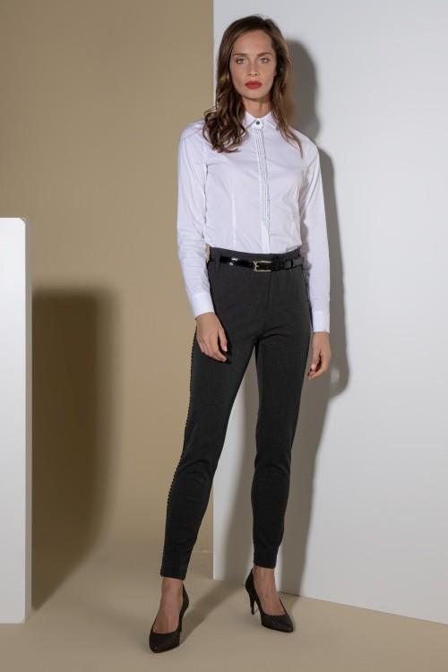 Pantalon body perfect avec ganse - Fabriqué au Portugal - Différentes tailles - Boutique de prêt à porter - L'appart du 6