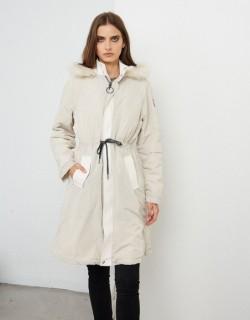 Doudoune Offf white longue avec capuche - Fabriqué en Europe - Différentes tailles - Boutique de prêt à porter - L'appart du 6