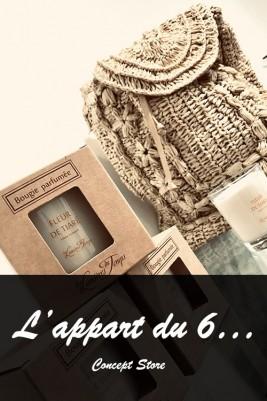 Boutique L'appart du 6 - Collection vêtements - Notre sélection décorations